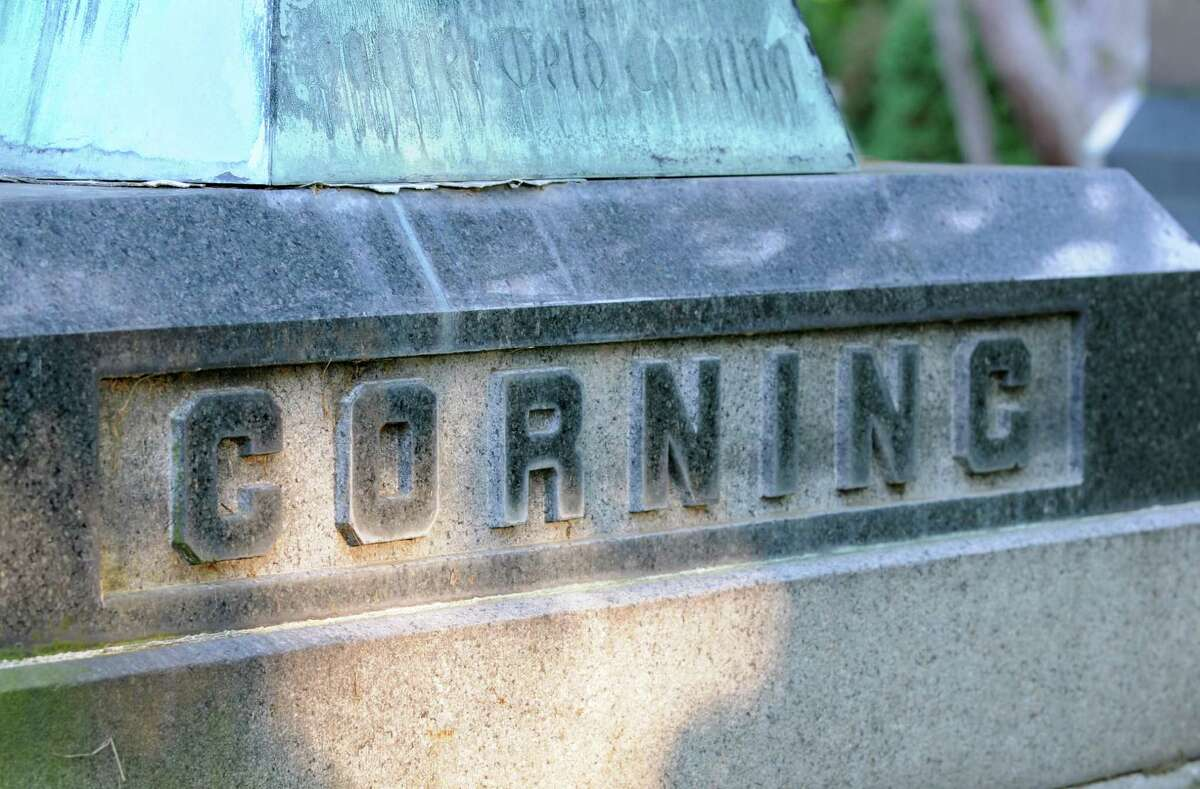The centerpiece of the Corning family plot.