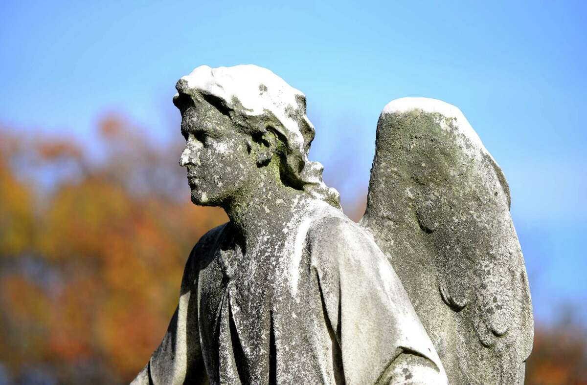 Angel at the Sepulchre, atop the grave of Emma Rathbone Turner on the south ridge at Albany Rural Cemetery is the work of Erastus Dow Palmer. (Will Waldron/Times Union)