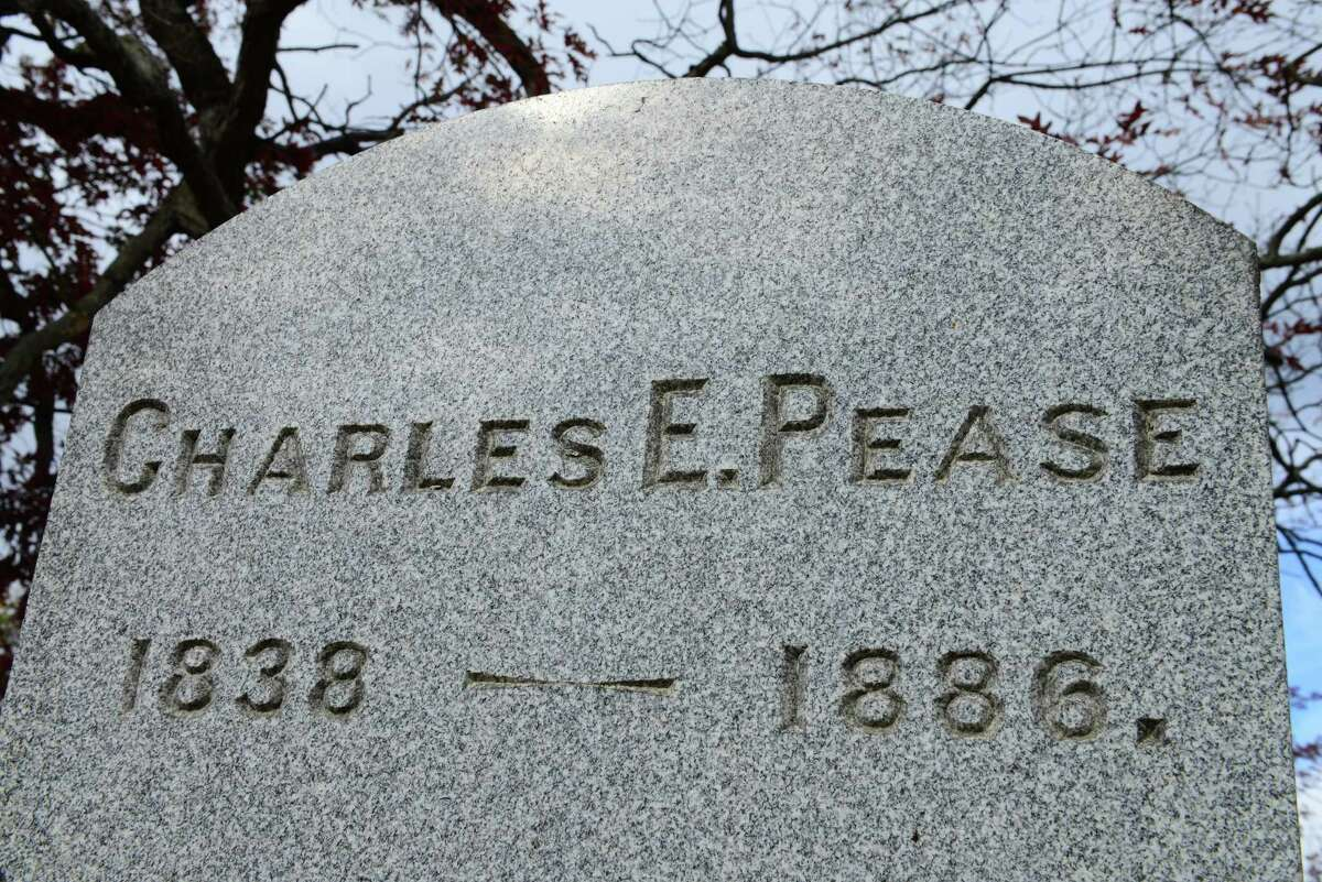 The grave marker of Maj. Gen. Charles Elliott Pease. (Will Waldron/Times Union)
