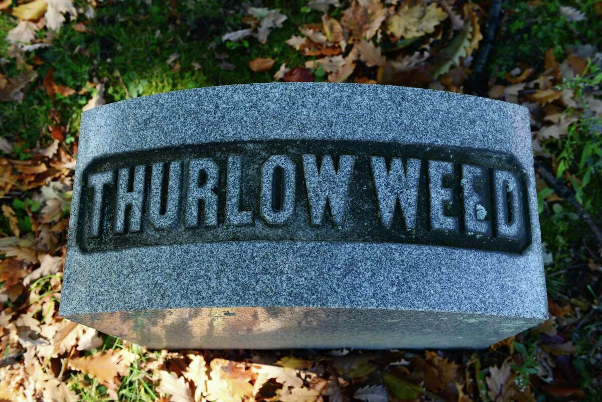 The grave of Thurlow Weed is in Section 109 of the cemetery. (Will Waldron/Times Union)