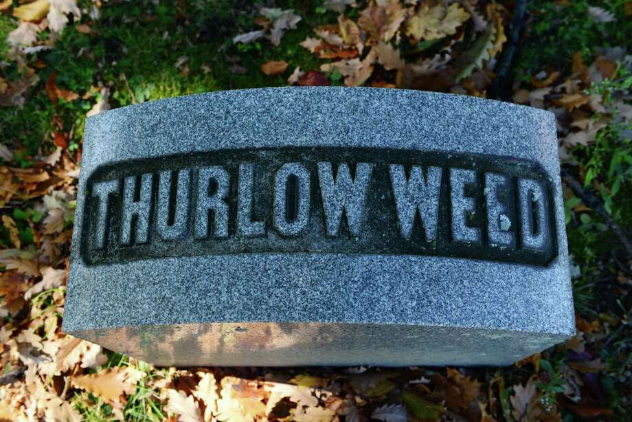 The grave of Thurlow Weed is in Section 109 of the cemetery.  (Will Waldron/Times Union) Photo: WW / 00023993A