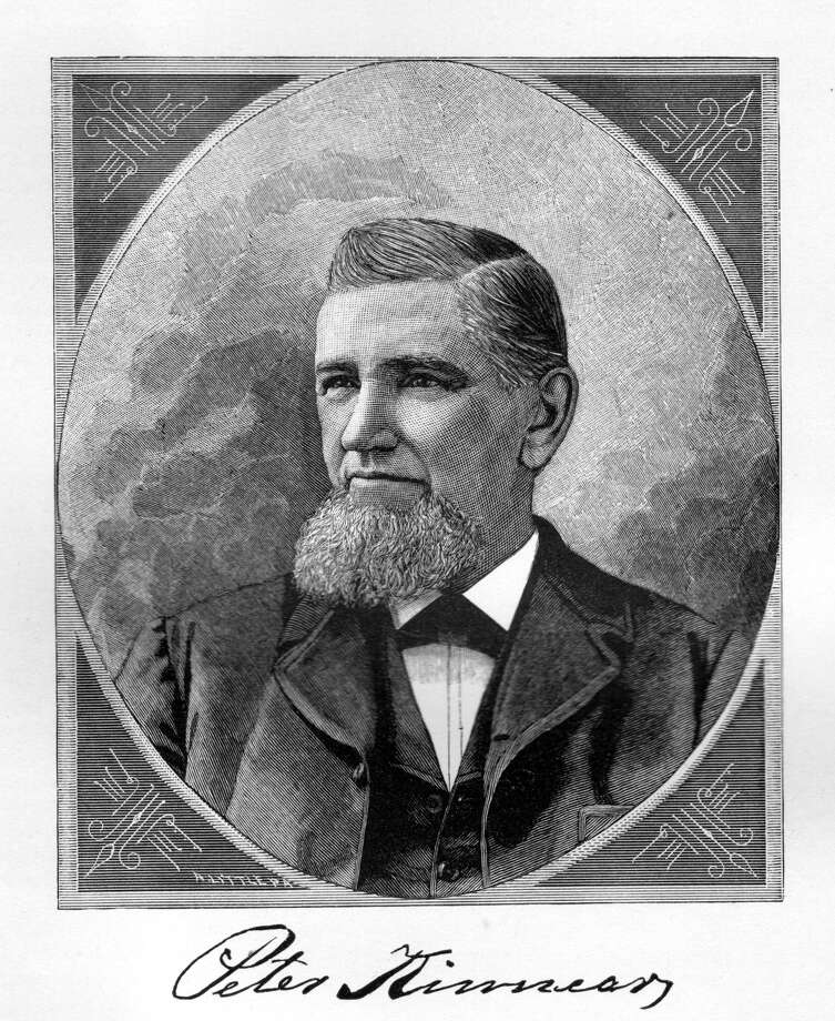 Peter Kinnear (1822-1913): He was the owner of Albany Billiard Ball Co. and revolutionized the game by joining forces with Albany inventor John Wesley Hyatt to develop an alternative to using ivory in the making of billiard balls. Read more about Kinnear in our Albany Rural Cemetery section.Photo credit: History of Albany County, New York / Public domain. No restrictions.