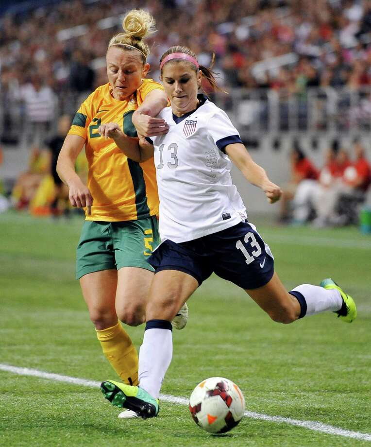 Alex Morgan is one of the most popular female athletes in the world. Photo: Darren Abate, Associated Press / FR115 AP
