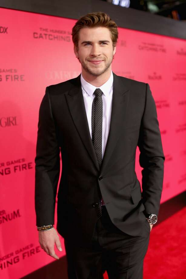 """Actor Liam Hemsworth attends premiere of Lionsgate's """"The Hunger Games: Catching Fire"""" - Red Carpet at Nokia Theatre L.A. Live on November 18, 2013 in Los Angeles, California. Photo: Christopher Polk, Getty Images"""