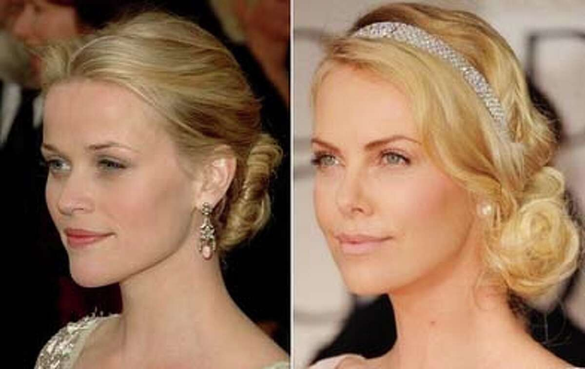 Charlize Theron and Reese Witherspoon aren't the only celebs to go for the elegant swept back look. We've found lots of celebs copying each other on the red carpet. Take a look and tell us which celeb got the look right by clicking on it.