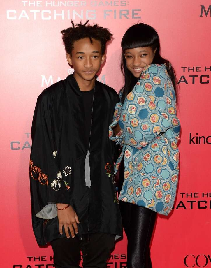 "Actor Jaden Smith (L) and singer Willow Smith arrive at the premiere of Lionsgate's ""The Hunger Games: Catching Fire"" at Nokia Theatre L.A. Live on November 18, 2013 in Los Angeles, California. Photo: Jason Merritt, Getty Images"