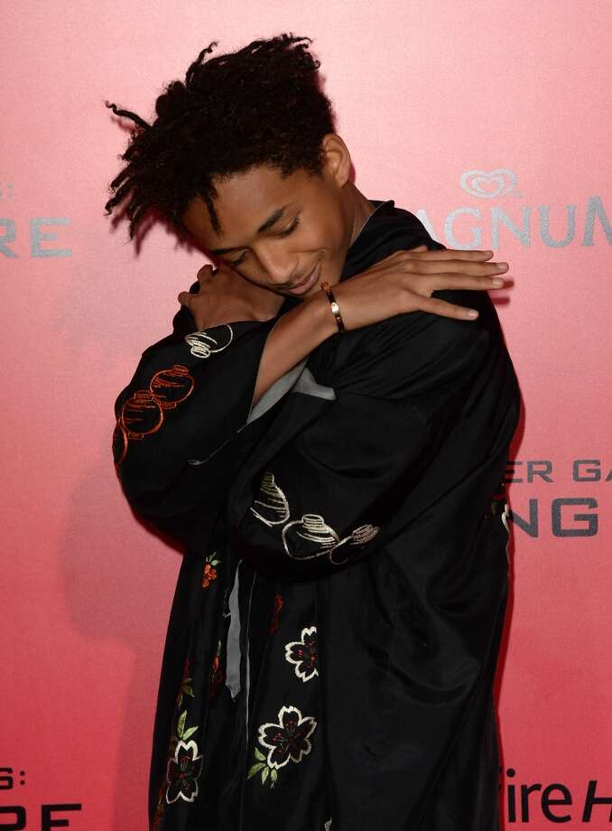 "Actor Jaden Smith arrives at the premiere of Lionsgate's ""The Hunger Games: Catching Fire"" at Nokia Theatre L.A. Live on November 18, 2013 in Los Angeles, California. Photo: Jason Merritt, Getty Images"