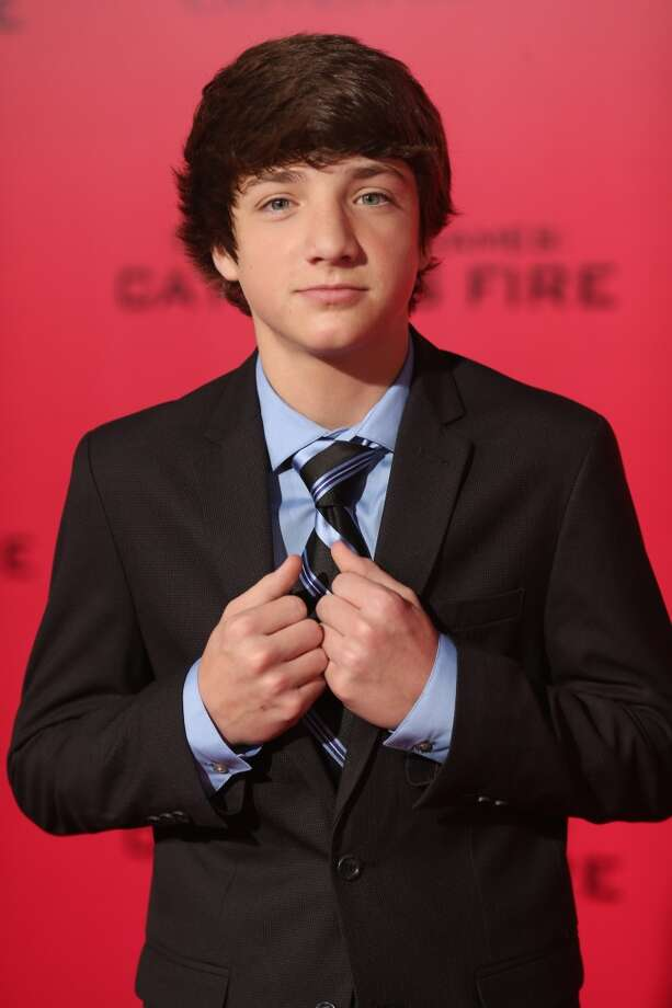 "Actor Jake Short attends premiere of Lionsgate's ""The Hunger Games: Catching Fire"" - Red Carpet at Nokia Theatre L.A. Live on November 18, 2013 in Los Angeles, California. Photo: Christopher Polk, Getty Images"