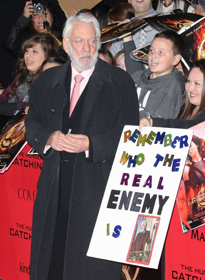 "Actor Donald Sutherland attends the premiere of Lionsgate's ""The Hunger Games: Catching Fire"" at Nokia Theatre L.A. Live on November 18, 2013 in Los Angeles, California. Photo: David Livingston, Getty Images"