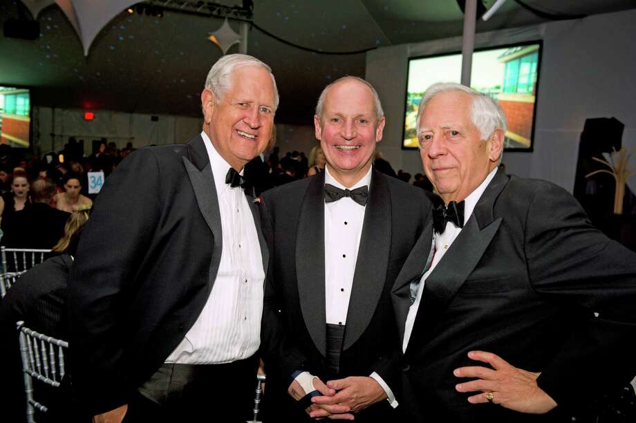 H. Darrell Harvey, co-chairman of the Stamford Hospital Foundation Board; Brian Grissler, president and CEO of Stamford Hospital and a New Canaan resident; and Peter Sachs, Stamford Hospital Foundation board member, at the hospitalâÄôs annual Dream Ball Gala earlier this month. Photo: Contributed Photo / New Canaan News