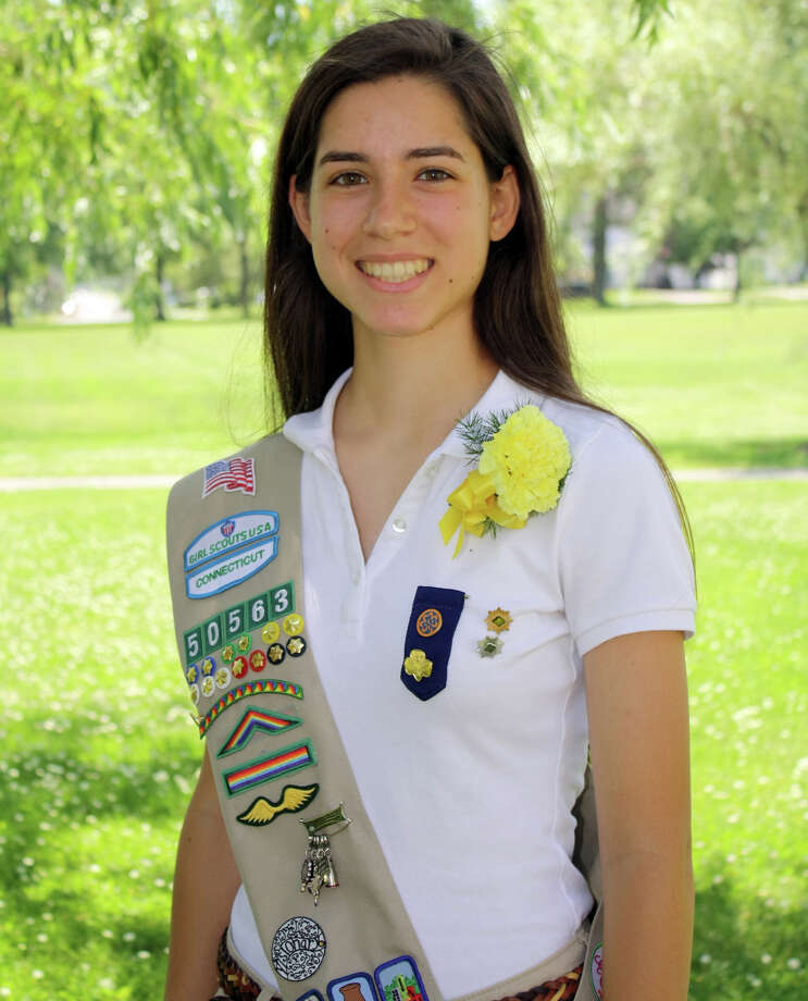 New Canaan Girl Scout and 2013 Gold Award Recipient Janelle K. Gerardi was named the 2013 Outstanding Youth in Philanthropy as a part of National Philanthropy Day in Connecticut on Nov. 15, 2013. Photo: Contributed Photo / New Canaan News