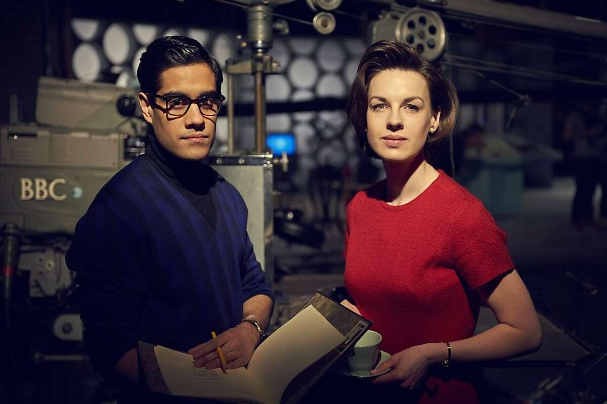 An Adventure in Space and Time, Waris Hussein (Sacha Dhawan) and Verity Lambert (Jessica Raine)