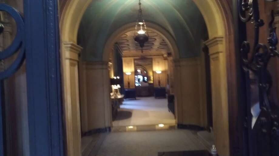 The lobby of the Park Lane, which looks like it belongs on Park Avenue. The Chronicle/Sam Whiting