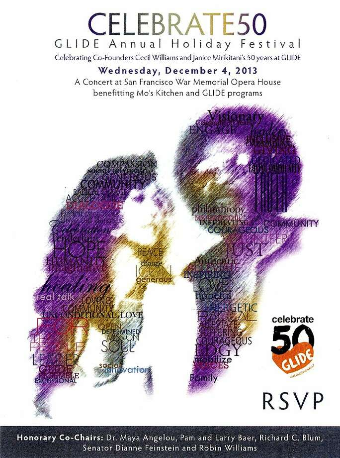 Invitation to Celebrate50, the Glide Holiday Festival. Photo: Courtesy Glide