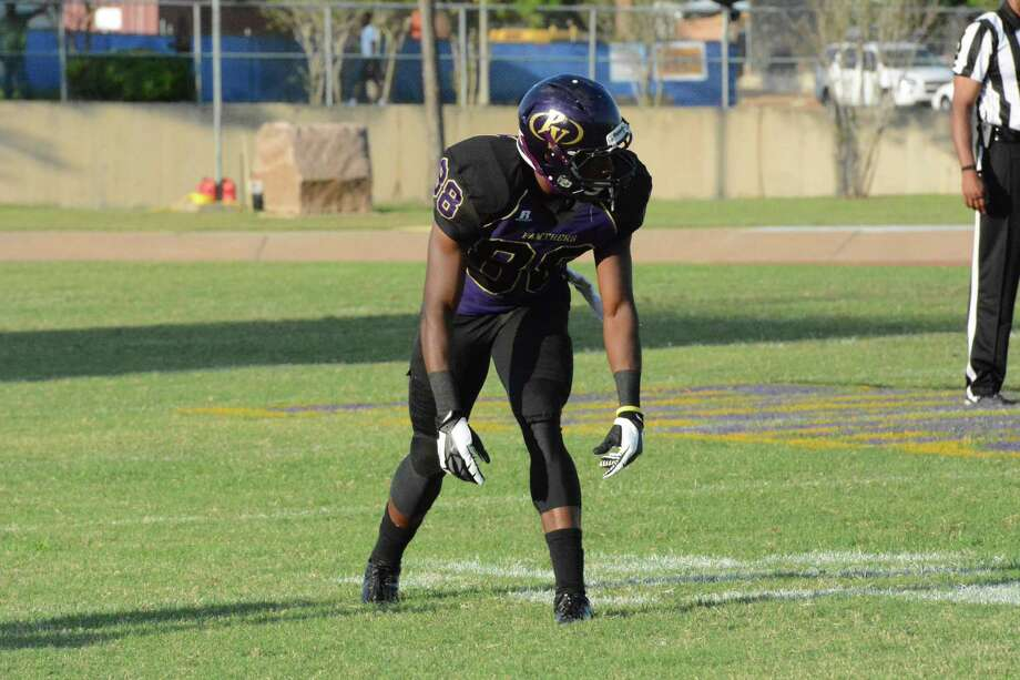 Prairie View A&M wide reciever and former Ozen star Jacoby Anderson is having a breakout season for the Panthers. The 6-foot, 187-pound senior has pulled down 44 receptions this season. -- Courtesy of PVAMU