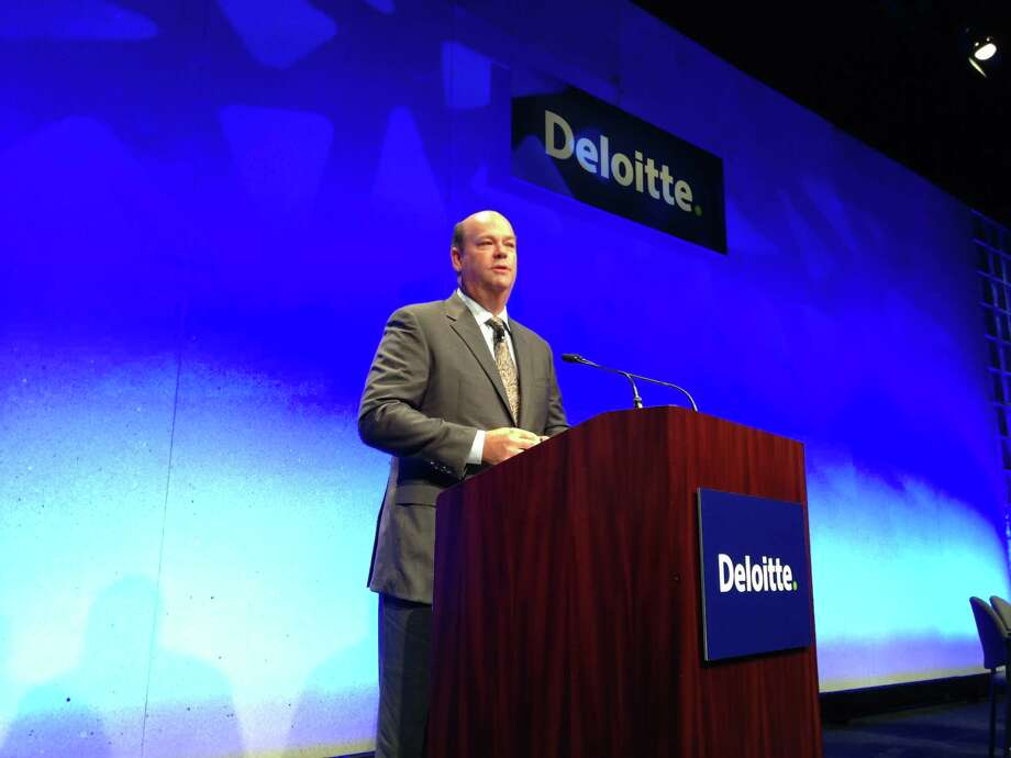 ConocoPhillips CEO Ryan Lance speaks at the Deloitte Oil & Gas Conference in Houston on November 19, 2013. Photo: Emily Pickrell