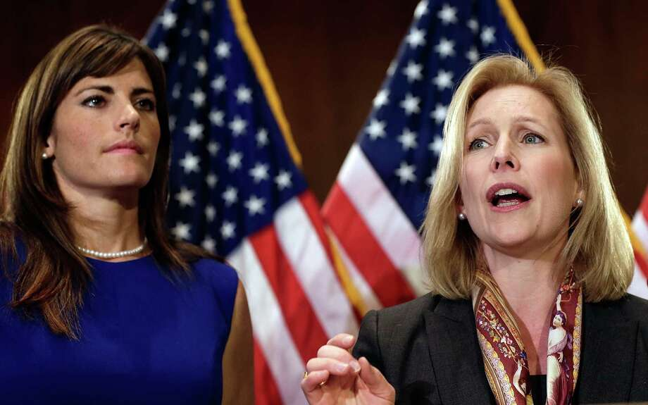 Sen. Kirsten Gillibrand's amendment would remove the chain of command from deciding whether to prosecute military sexual-assault cases. Photo: Win McNamee / Getty Images