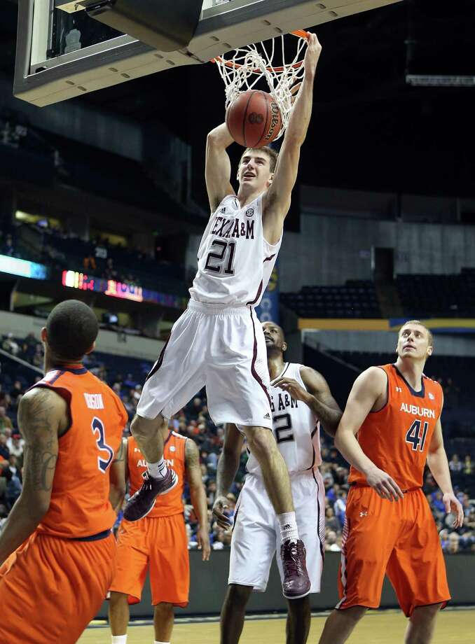 Alex Caruso led the Aggies to victory with a team-high 15 points and a career-high six steals.