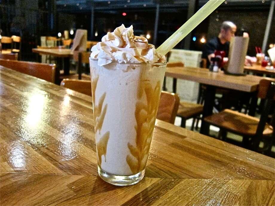 Bourbon Caramel Shake at Grub Burger Bar. Photo: Alison Cookl