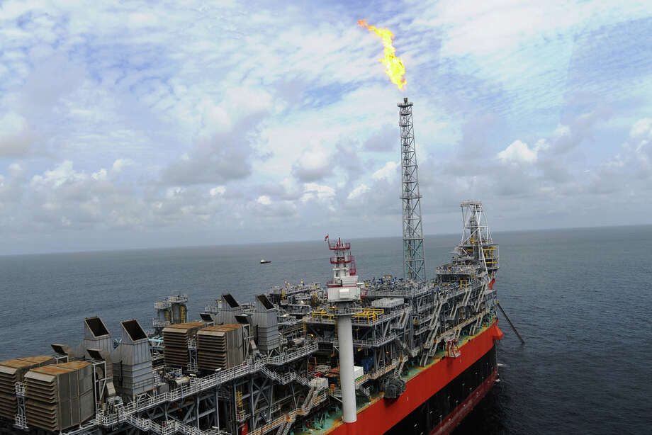 BP's Plutao, Saturno, Venus and Marte Floating Production, Storage and Offloading (FPSO) vessel sits offshore Angola. Photo: BP