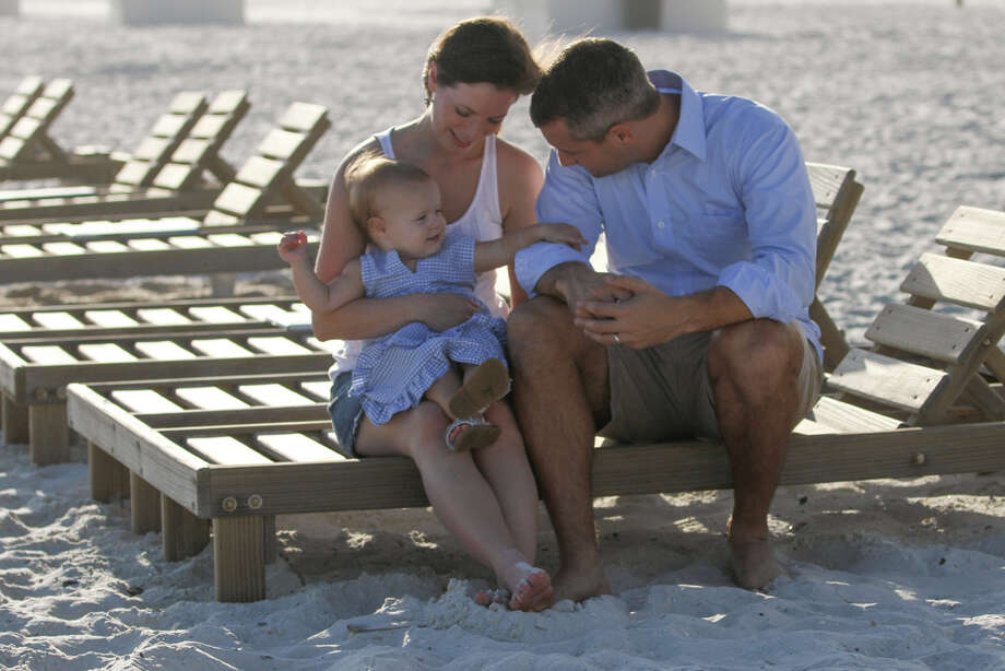 Camehl family photo in Gulf Shores, Alabama.  Kelen Camehl