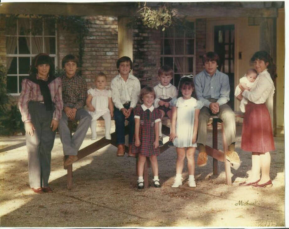 Fontaine family thanksgiving 1983 kids only.  Drew Fontaine