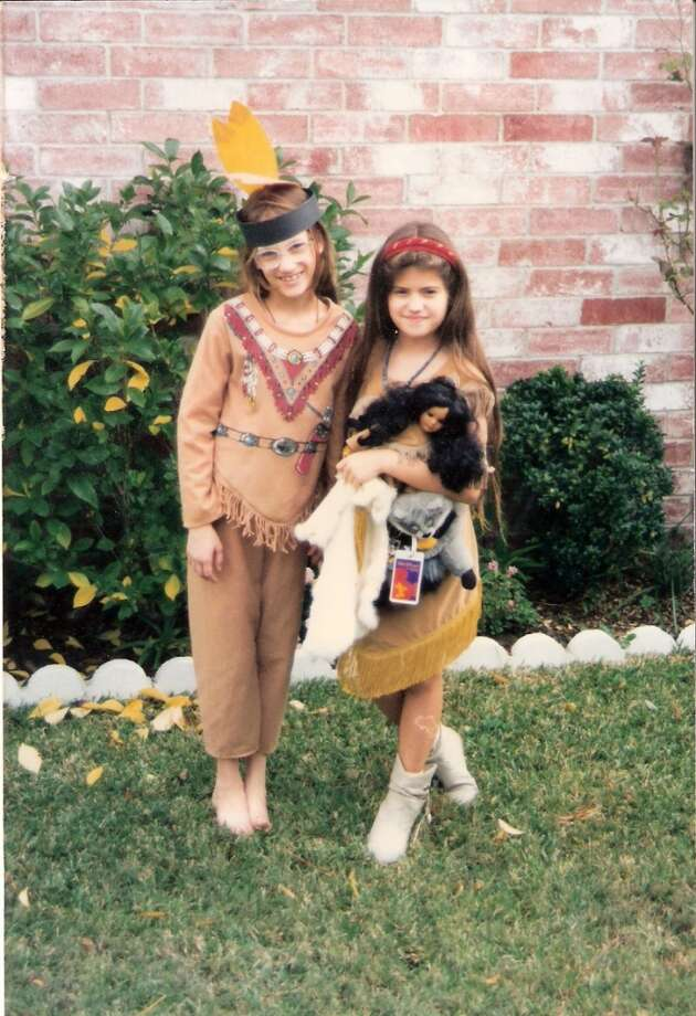 Cousins Michelle Baker and Connie Gallo get in the Thanksgiving spirit by dressing as Indians. Thanksgivings were always celebrated with cousins, aunts, uncles, friends and neighbors at Grandma and Grandpa Koster's house. The house was only 900 square feet, but it was always big enough to hold everyone, even more than 20 quest.  Michelle Baker