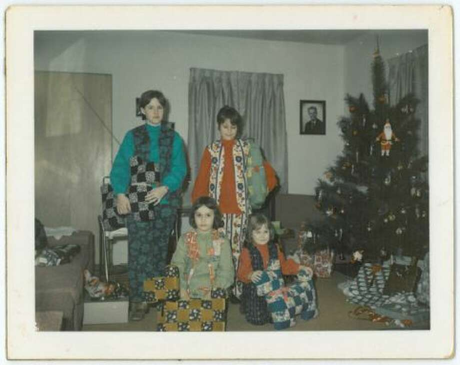 The ever fashionable Roberson girls on Christmas Eve 1969.  Laurie Caballero Photo: Caballero, Laurie A. (JSC-IS)[DB Consulting Group, Inc.]