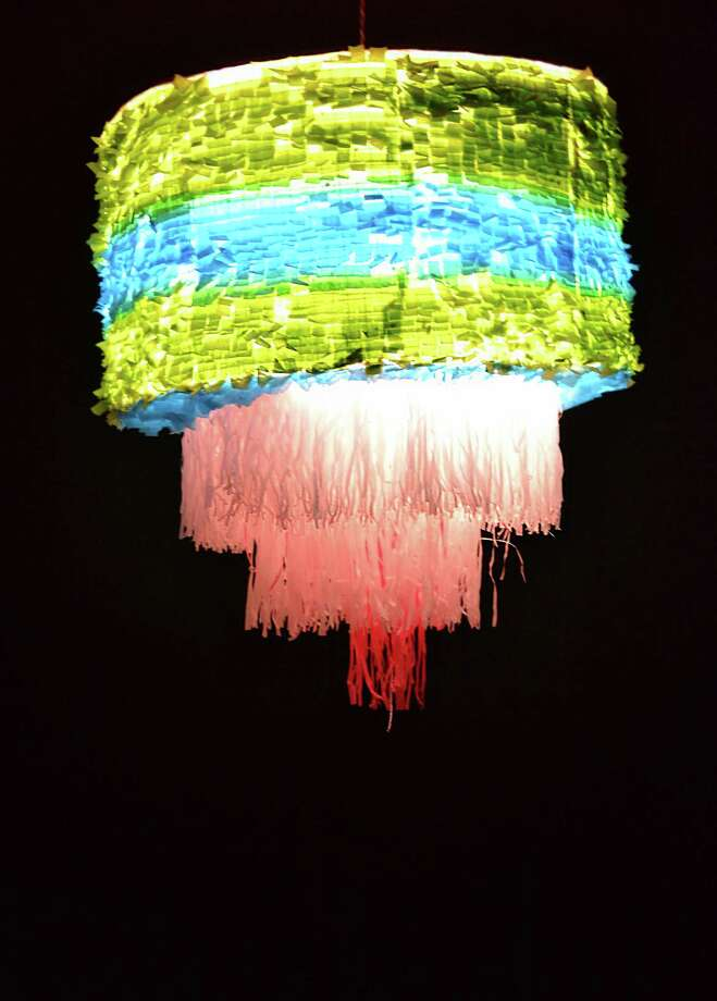 "Avi Avalos made a piñata chandelier for the Museo Guadalupe exhibit ""Alternate Currents."" Photo: Courtesy Museo Guadalupe"