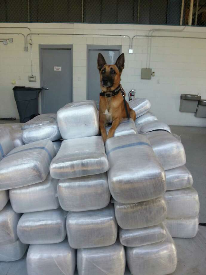 The Fort Bend County Sheriff's Office seized more than a ton of marijuana during a traffic stop on U.S. 59 in Sugar Land Tuesday Photo: FBCOSO