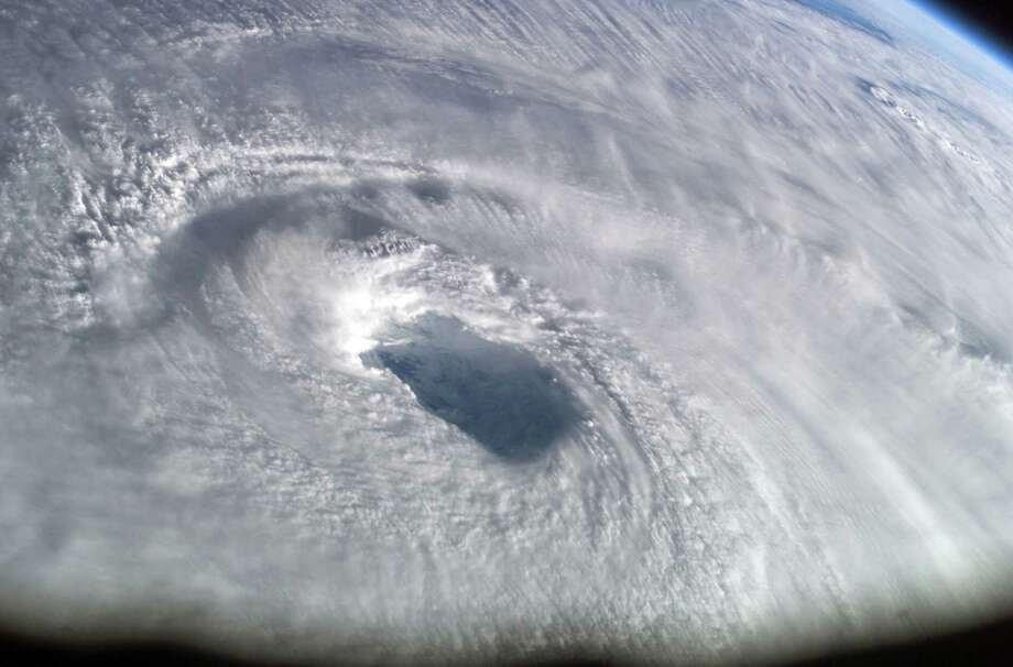 September 15, 2003 — This close-up view of the eye of Hurricane Isabel was taken by one of the Expedition 7 crewmembers onboard the International Space Station (ISS). Photo: NASA