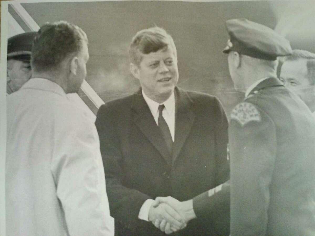 Sen. John F. Kennedy at Sea-Tac International Airport November 1959.