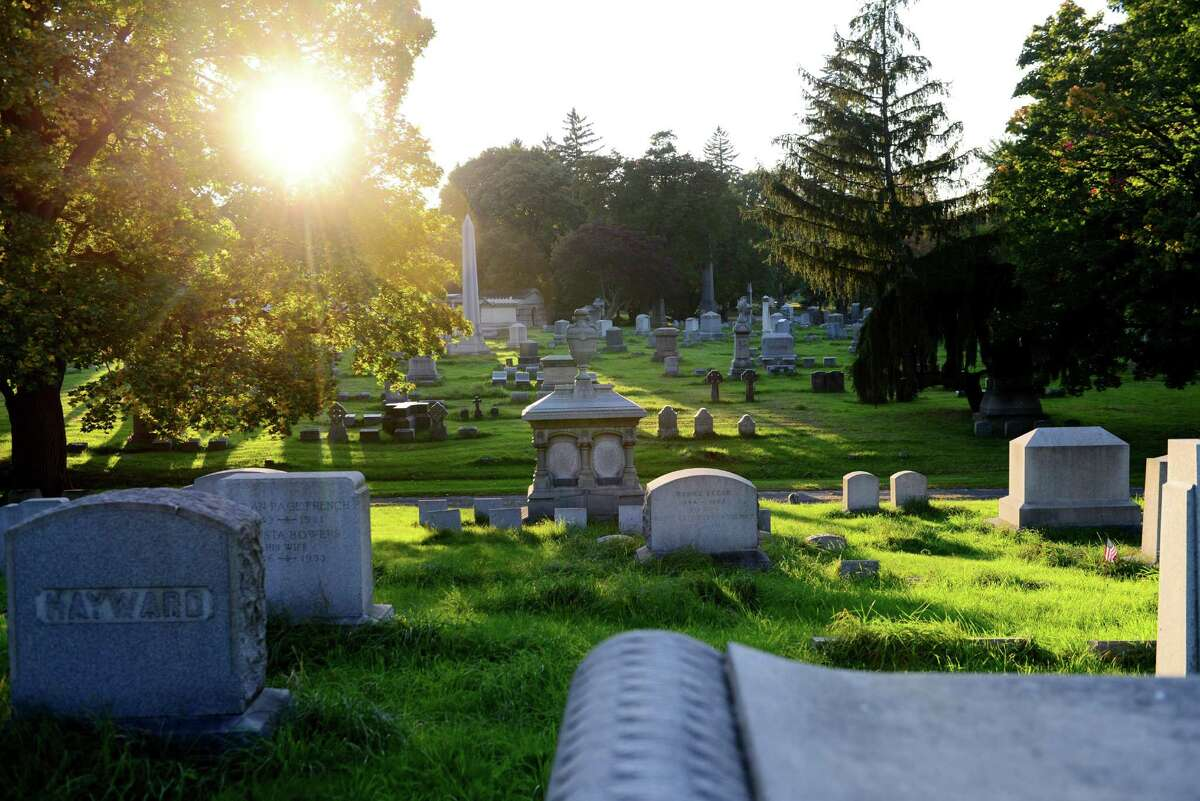 View looking west across sections 30 and 28 of Albany Rural Cemetery Tuesday afternoon, Oct. 1, 2013, in Menands, N.Y. (Will Waldron/Times Union)