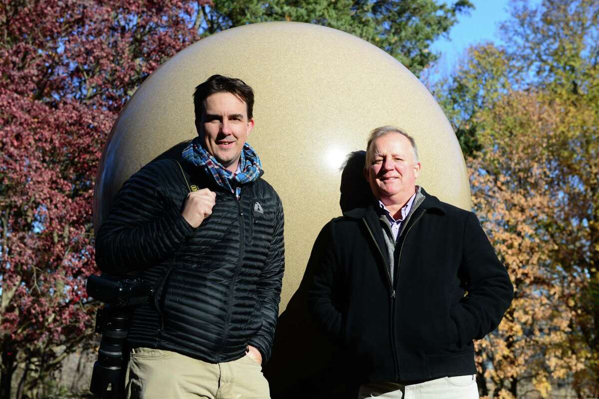 Photographer Will Waldron, left, and writer Paul Grondahl at Albany Rural. (Will Waldron/Times Union)