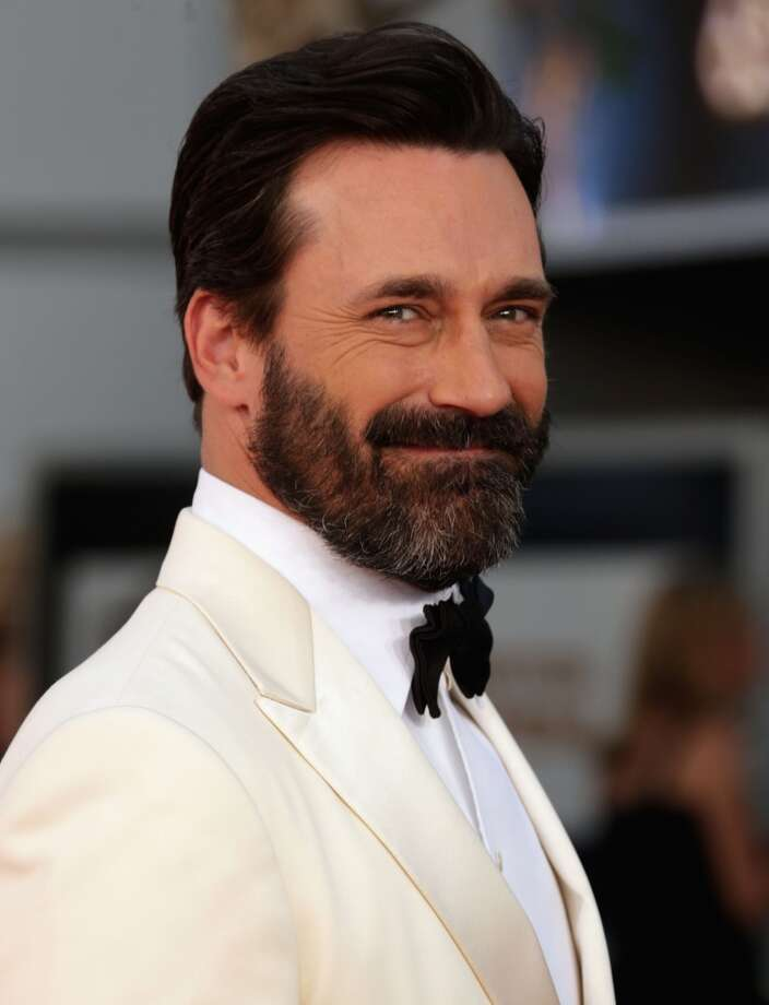 Jon Hamm, hotter without the beard, but still hot. Photo: Jeff Vespa, WireImage