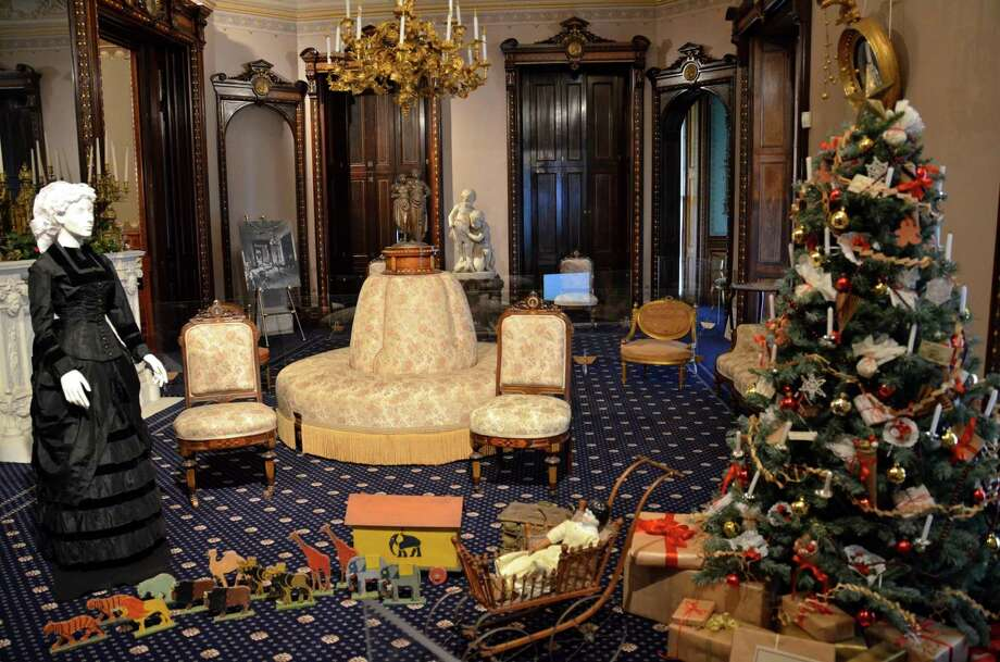 The Lockwood-Mathews Mansion Museum, in Norwalk, will be adorned with Christmas decorations Friday, Nov. 29, to Sunday, Dec. 29. Photo: Contributed Photo / Connecticut Post Contributed
