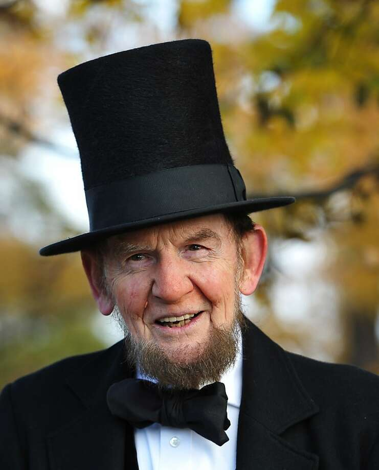 I know I don't look anything like Lincoln. But I'm going to portray him anyway!	Four score and ...James Getty 
