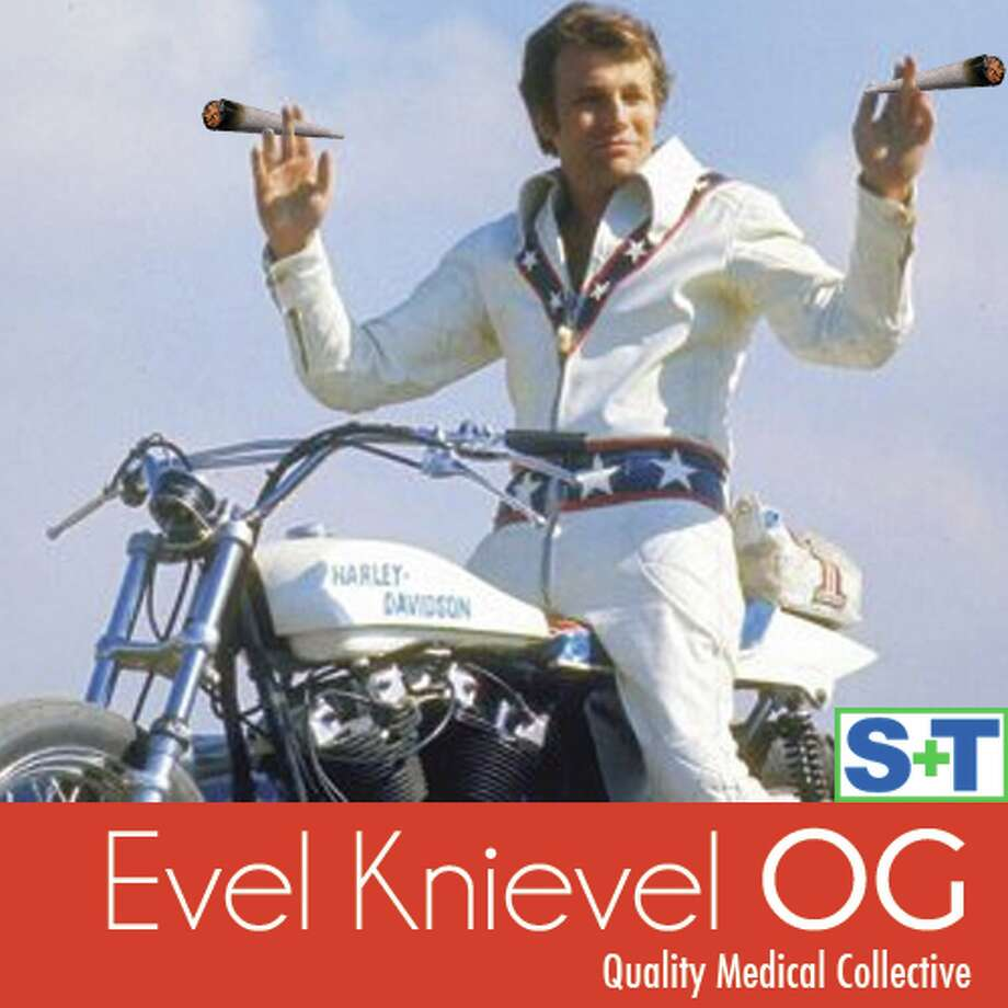 Relax and let a bowl of Evel Knievel OG do stunts in your lungs. From Quality Medical Collective in Los Angeles.