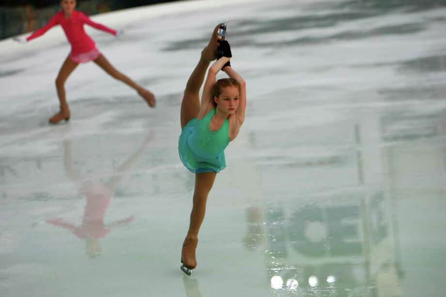 Brianna de la Mora of Missouri City at The Ice at Discovery Green Holiday Skating on Kinder Lake Photo: Chronicle File, Staff / Houston Chronicle