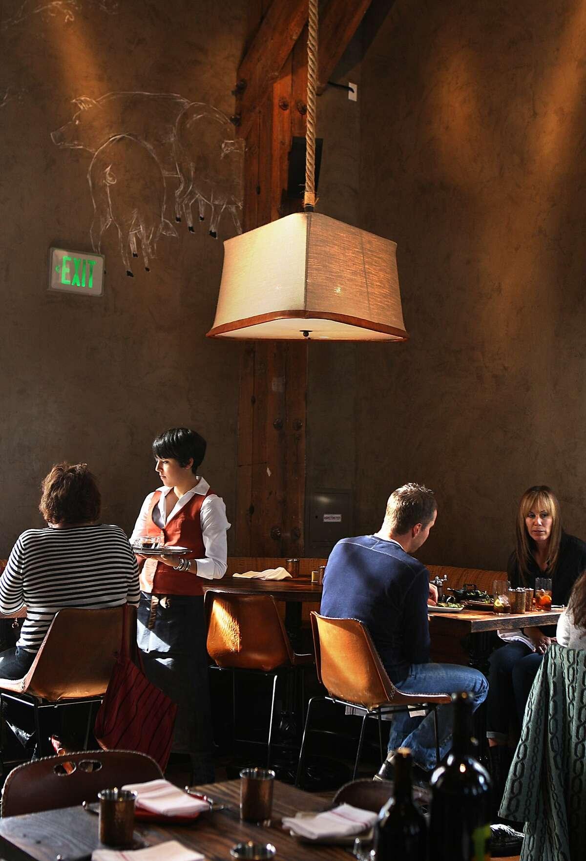 Alli Diaz serves lunch at Coqueta in San Francisco, California, on Thursday, November 14, 2013.