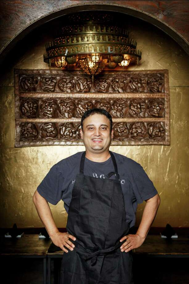 """AmbrosiaChef and owner Rikesh Patel of Ambrosia had no restaurant experience. Never worked in the food service industry. He had no chef and he wasn't a trained chef.About the only thing Rikesh Patel had going for him was an intense love for Indian food and the desire to own a restaurant.And, like that, he made it happen. He took over a postage-stamp space  that used to be a Moroccan restaurant near Shepherd and Highway 59,  gave it a hip new look and then opened in January without any  advertising and zero marketing.One thing you may not know about Patel:""""A celebrity chef I admire? Paula Deen. Just kidding! Chris Shepherd is a  bad dude. I get nervous around that guy, like I should be chopping  onions or something."""" Photo: Michael Paulsen, Staff / © 2013 Houston Chronicle"""