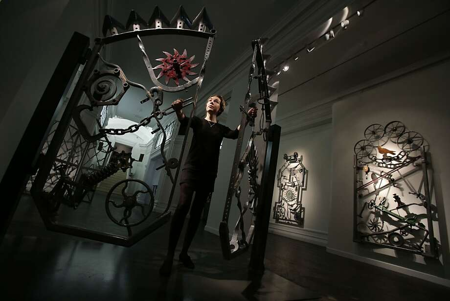 """Dylan doesn't appear to much effort into naming many of his sculptures. He calls this iron gate called """"Untitled VI.""""  Photo: Yui Mok, Associated Press"""