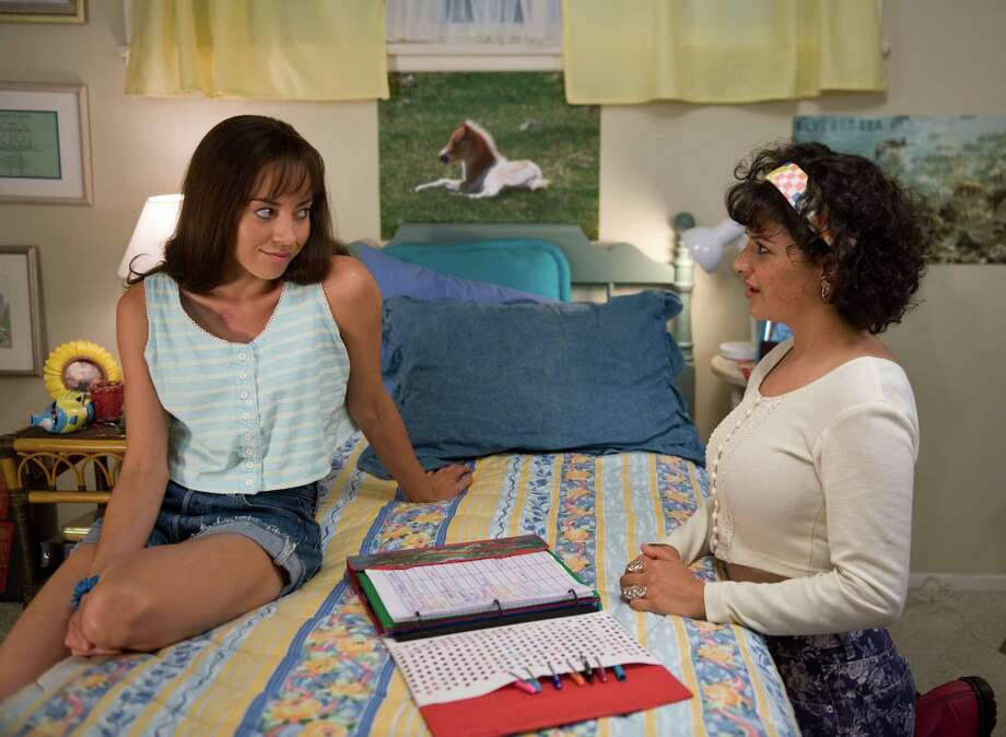 "This film publicity image released by CBS Films shows Aubrey Plaza as Brandy Klark, left, and Alia Shawkat as Fiona in a scene from ""The To Do List."" (AP Photo/CBS Films, Bonnie Osborne) ORG XMIT: NYET134 Photo: Bonnie Osborne / CBS Films"