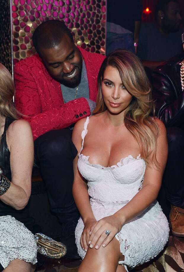 "Kanye West and Kim Kardashian shared the screen in West's just released video ""Bound 2."" Photo: Denise Truscello, WireImage"