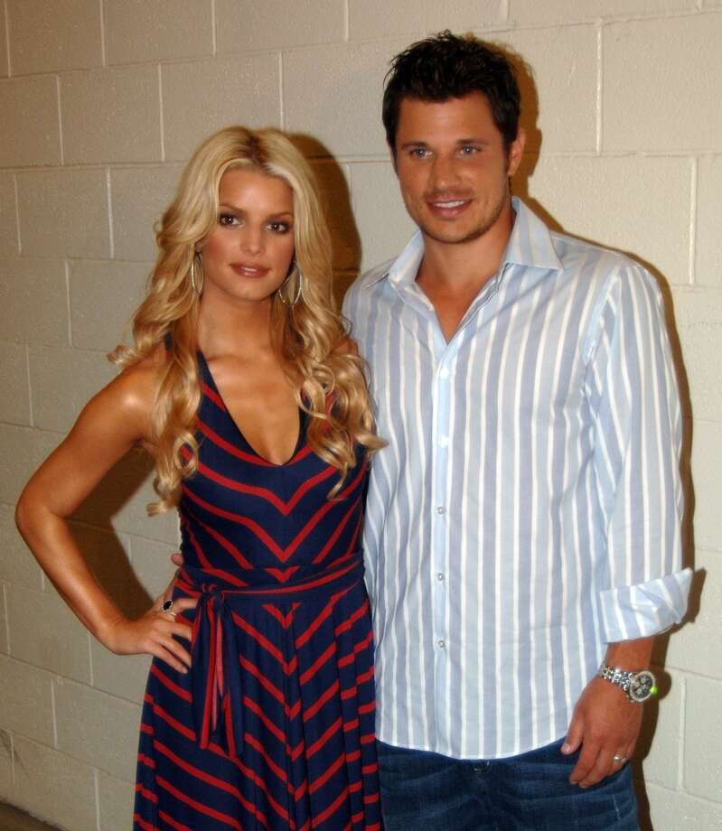 "Former MTV ""Newlyweds"" Jessica Simpson and Nick Lachey shared the music video screen together in ""Where you are"" in 2000. The couple married in 2002 and divorced in 2006. Photo: Jeff Snyder, FilmMagic"