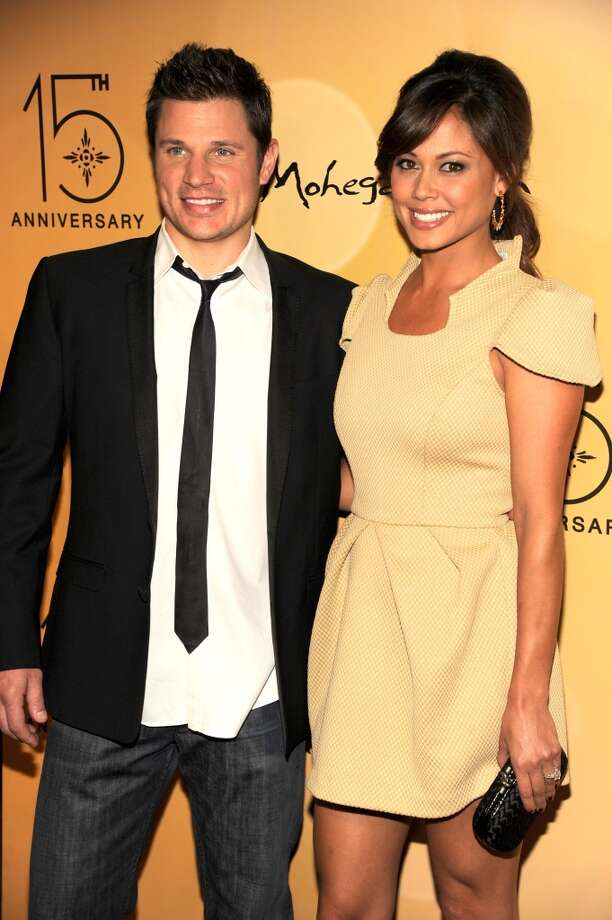"Nick Lachey, seen here with wife Vanessa Minnillo, could have easily fallen into the ""once burned, twice shy"" category when it comes to music video couplings. After his divorce from Jessica Simpson he met Minnillo on the set of his 2006 video ""What's Left of Me"" and the couple were wed in 2011. Photo: Kevin Mazur, WireImage"