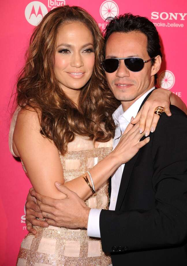 "Jennifer Lopez and then-husband Marc Anthony appeared together in 2009' ""No Me Ames."" The pair divorced in 2011. Photo: Steve Granitz, WireImage"