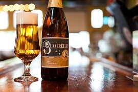 Buzzerkeley from the CaliCraft Brewing Co. on the bar at The Tied House in Mountain View, Calif., on Friday, Nov. 16th, 2012.