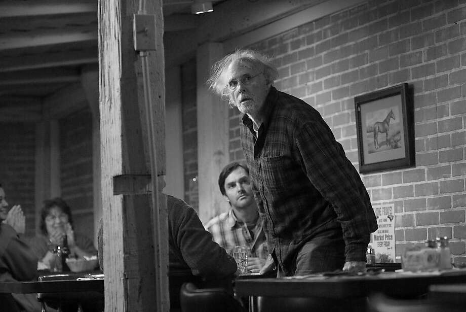 Bruce Dern (center) is Woody Grant and Will Forte (rear) is David Grant in NEBRASKA, from Paramount Vantage in association with FilmNation Entertainment, Blue Lake Media Fund and Echo Lake Entertainment. NEB-03391RBW Photo: Merie W. Wallace, Paramount Pictures