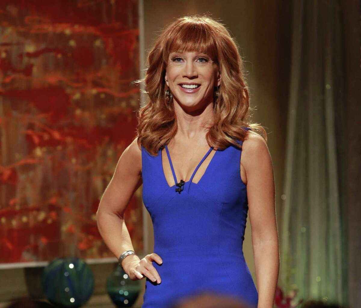 Kathy Griffin (right) sets a record at the Majestic Theatre on Sunday.